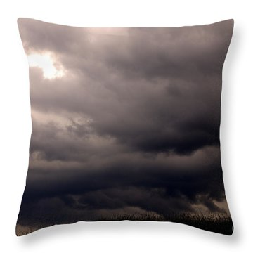 Stormy Sky Over Pasture Throw Pillow by Thomas R Fletcher
