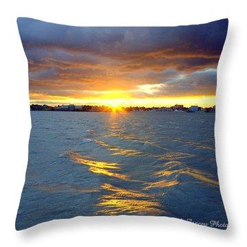 Stormy Sunset Throw Pillow