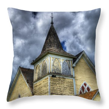 Stormy Times Throw Pillow by Bob Christopher