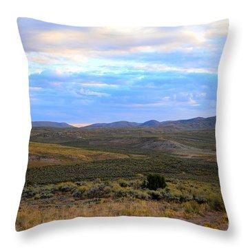Stormy Wyoming Sunrise I Throw Pillow