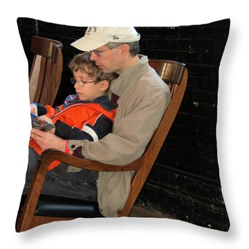 Throw Pillow featuring the photograph Story Time by Darleen Stry