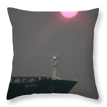 Straits Of Verrazano Throw Pillow