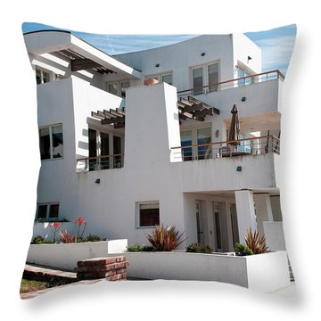 Strand Architecture Manhattan Beach Throw Pillow