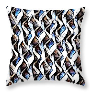 Strands And Things Throw Pillow