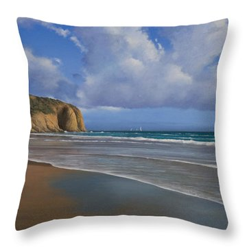 Strands Beach Dana Point Painting Throw Pillow