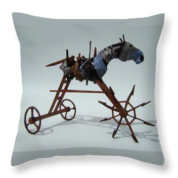 Strangely Young Throw Pillow