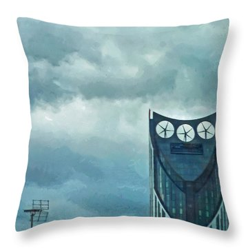 Strata Tower In London Throw Pillow by Steve Taylor