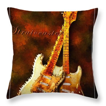 Stratocaster Throw Pillow
