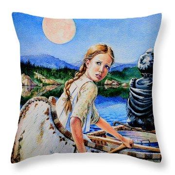 Strawberry Moon Throw Pillow
