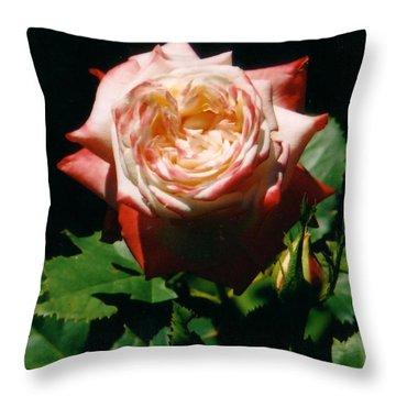 Strawberry Rose Throw Pillow