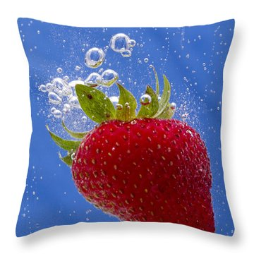 Strawberry Soda Dunk 3 Throw Pillow by John Brueske