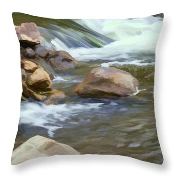 Throw Pillow featuring the photograph Stream by John Crothers