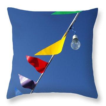Street Decorations Throw Pillow by Gaspar Avila
