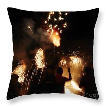 Street Fire Throw Pillow