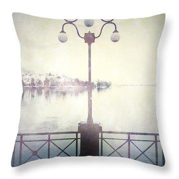 Street Lamp Throw Pillow by Joana Kruse