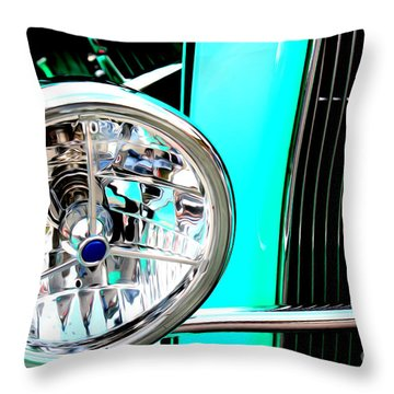 Throw Pillow featuring the digital art Street Rod Beauty by Tony Cooper