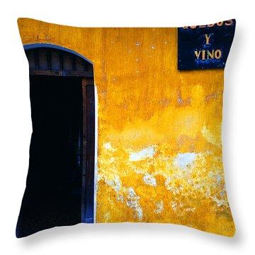 Street Scene La Antigua Throw Pillow by Thomas R Fletcher