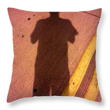 Street Shadows 001 Throw Pillow by Lon Casler Bixby