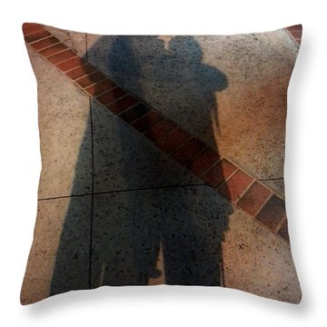 Street Shadows 002 Throw Pillow by Lon Casler Bixby