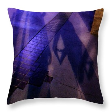 Street Shadows 004 Throw Pillow by Lon Casler Bixby