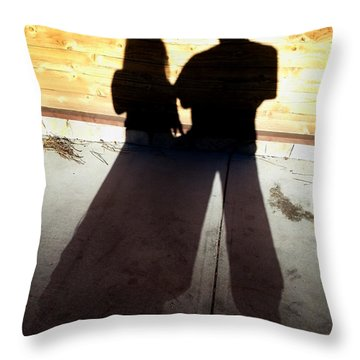 Street Shadows 022 Throw Pillow by Lon Casler Bixby