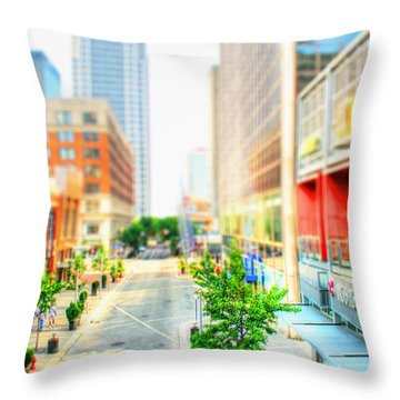 Street's Of Louisville Throw Pillow