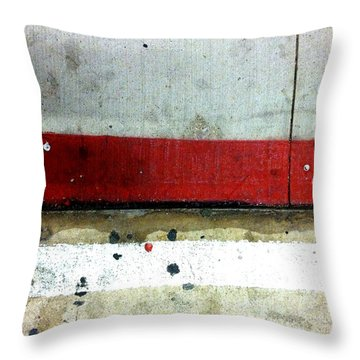 Streets Of New York Abstract Eight Throw Pillow by Marlene Burns