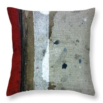 Streets Of New York Abstract Twelve Throw Pillow by Marlene Burns