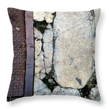 Streets Of New York Abstract Two Throw Pillow by Marlene Burns