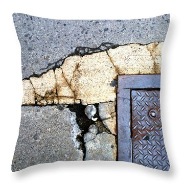 Streets Of Nyc Abstract One Throw Pillow by Marlene Burns