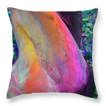 Throw Pillow featuring the digital art Stretch by Richard Laeton