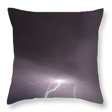 Throw Pillow featuring the photograph Strike by John Crothers