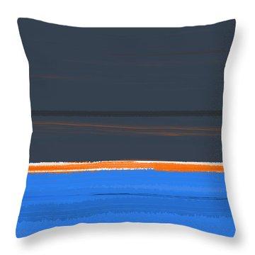 Stripe Orange Throw Pillow