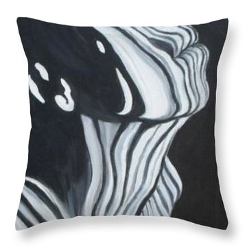 Throw Pillow featuring the painting Stripes by Julie Brugh Riffey