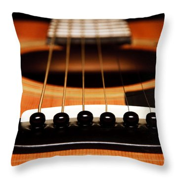 Strum Front Throw Pillow by Andee Design