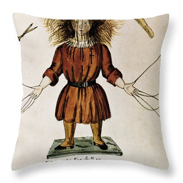 Struwwelpeter Throw Pillow by Photo Researchers