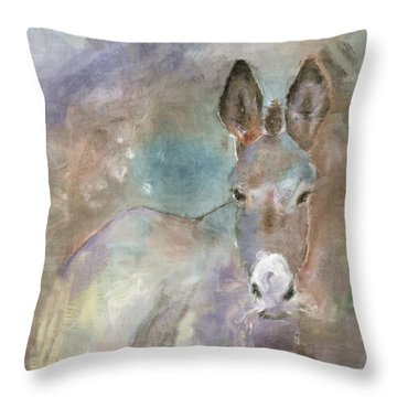 Stubborn Jesse - I'm Not Moving Throw Pillow by Arline Wagner