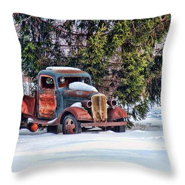 Throw Pillow featuring the photograph Stuck by Mary Timman
