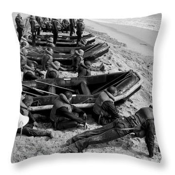 Students Wait By Their Inflatable Throw Pillow by Michael Wood