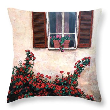 Studio Window Throw Pillow