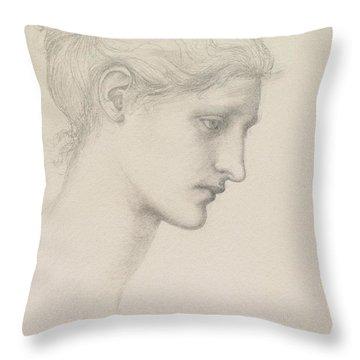 Study For Laus Veneria Throw Pillow by Sir Edward Burne Jones