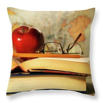 Study Time Throw Pillow