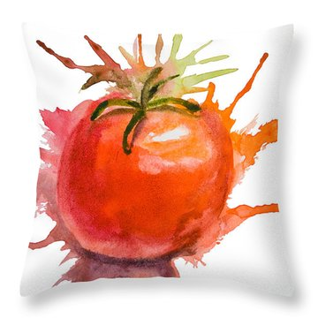 Stylized Illustration Of Tomato Throw Pillow
