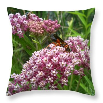 Sublimely Unaware Throw Pillow by Trish Hale