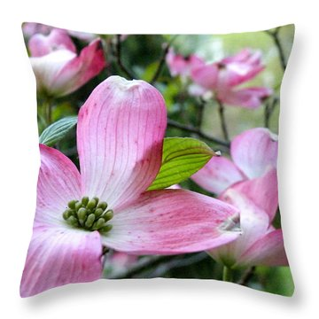 Subtle Magnolia Throw Pillow