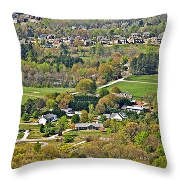 Suburban Landscape Throw Pillow by Susan Leggett