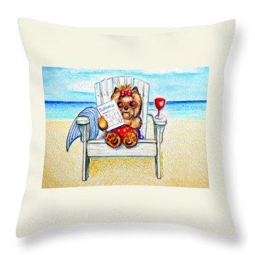 Sudoku At The Beach Throw Pillow