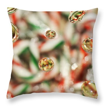 Sugar On Canes Throw Pillow