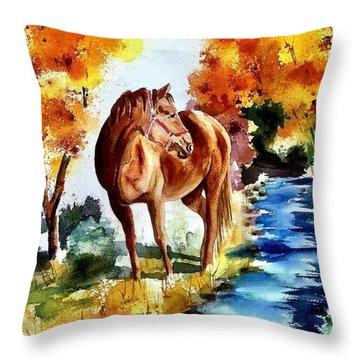 Sugar  Throw Pillow by Sharon Mick