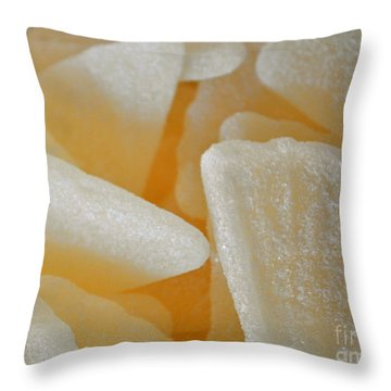 Sugary Grapefruit Slices Throw Pillow by Gwyn Newcombe